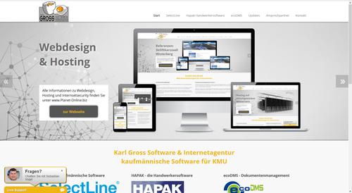 neue webseite ist online karl gross software internetagentur. Black Bedroom Furniture Sets. Home Design Ideas